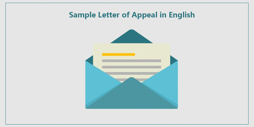 writing a letter of appeal