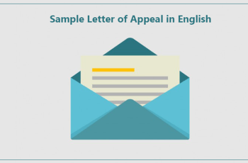 Sample Letter of Appeal in English