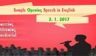 Sample Opening Speech in English