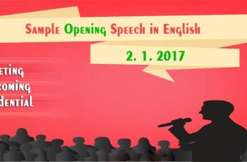 Sample Opening Speech in English