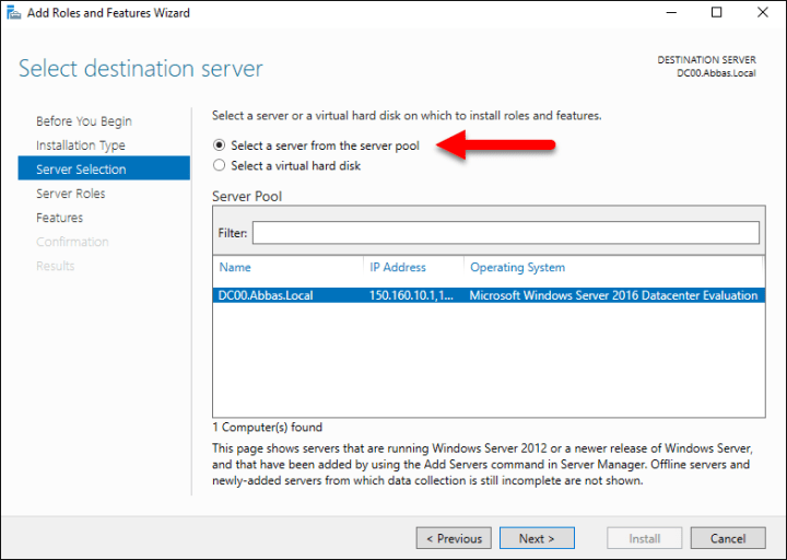Migrating Roles Server 2012R2 Windows Server 2016