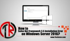 Solve Net Framework 3.5 Server 2016