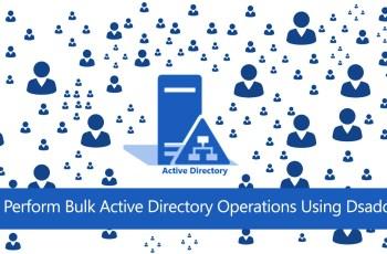 Perform Bulk Active Directory Operations Using Dsadd