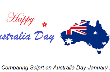 Comparing Script on Australia Day–January 26