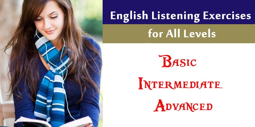 English Listening Exercises for All Levels - Listening Test for
