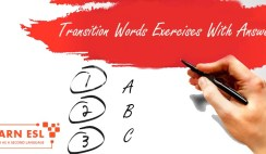 Transition Words Exercises With Answers