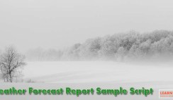 Weather Forecast Report Sample Script in English
