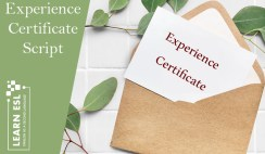Experience Certificate Script & Sample