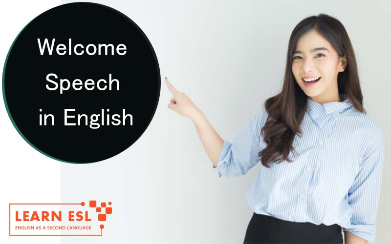 Welcome Speech in English