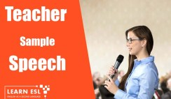 Annual Day Speech Sample for Teachers