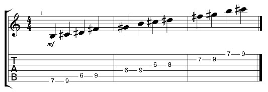 B major pentatonic