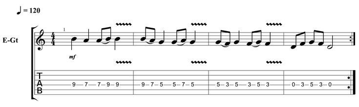 Easy guitar riffs 1 string