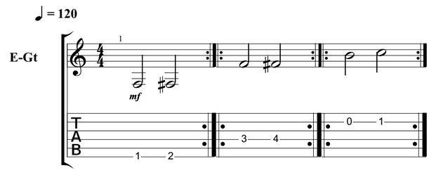 Beginner Guitar Scales 1