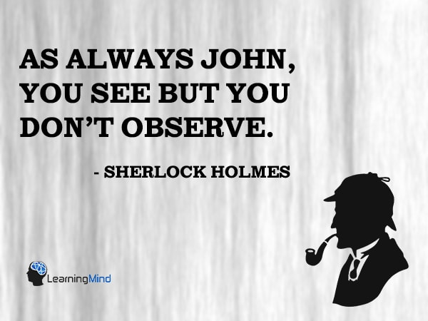 As always John, you see but you don't observe