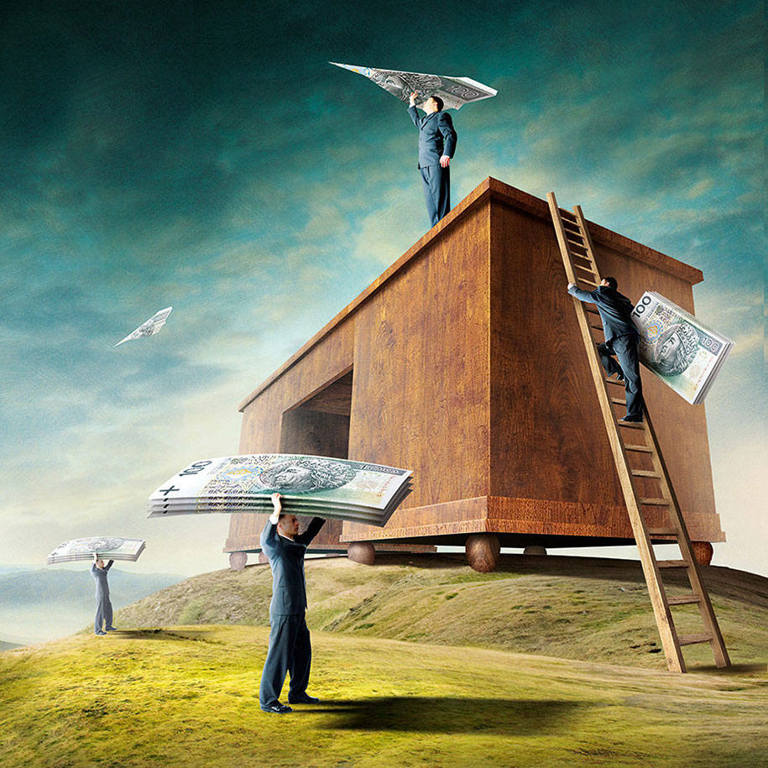 surreal illustrations igor morski money