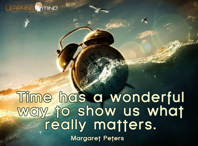 Time has a wonderful way to show us what really matters.