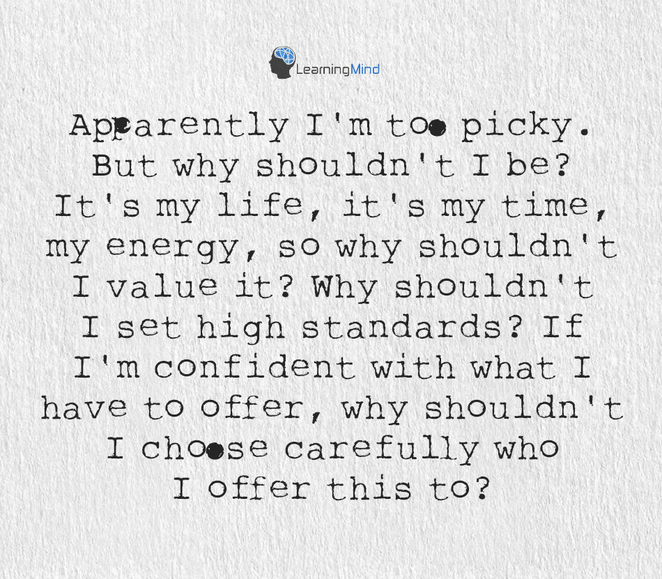 too picky
