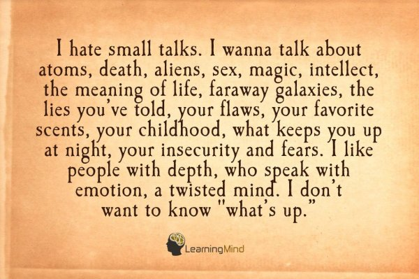 i hate small talks
