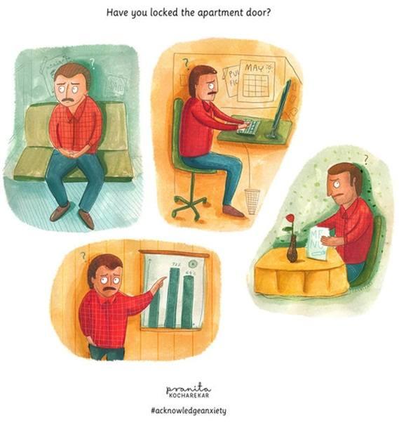Anxious people illustrations