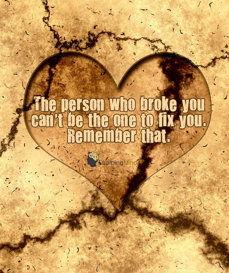 the person who broke you