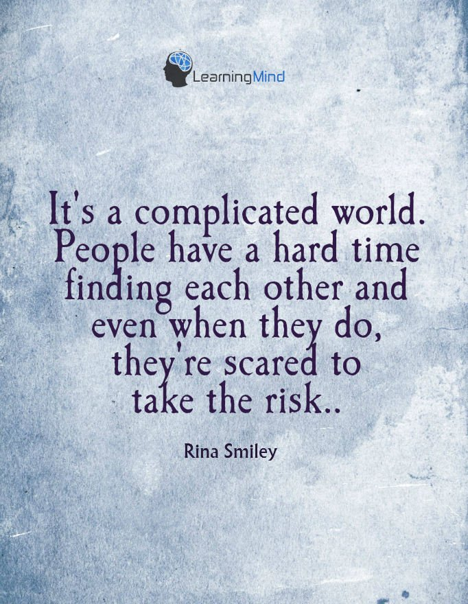 its a complicated world