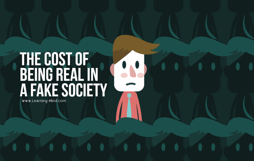 being real fake society