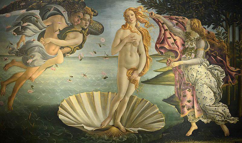 La naissance de Vénus Boticelli art styles
