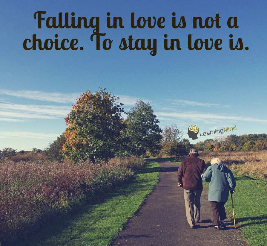Falling in love is not a choice. To stay in love is.