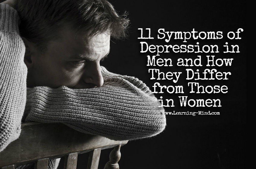 symptoms of depression in men