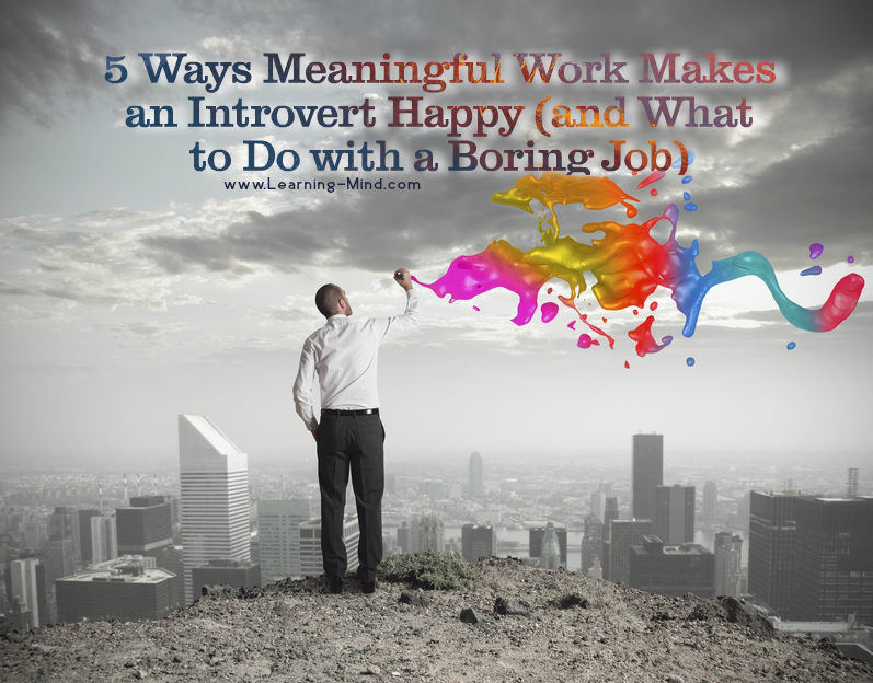 meaningful work introvert