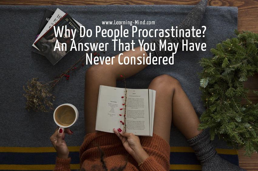 why do people procrastinate
