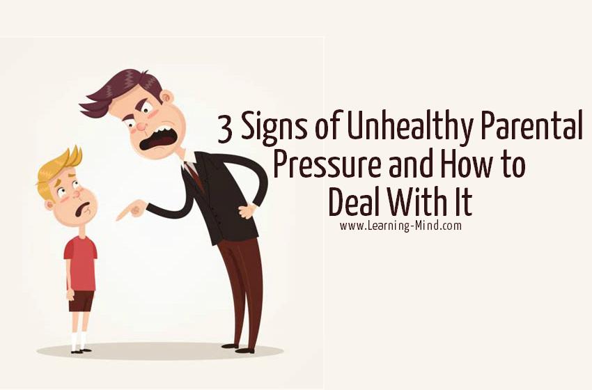 unhealthy parental pressure