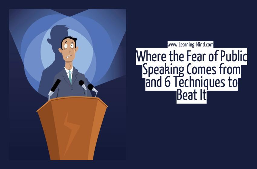 fear of public speaking techniques