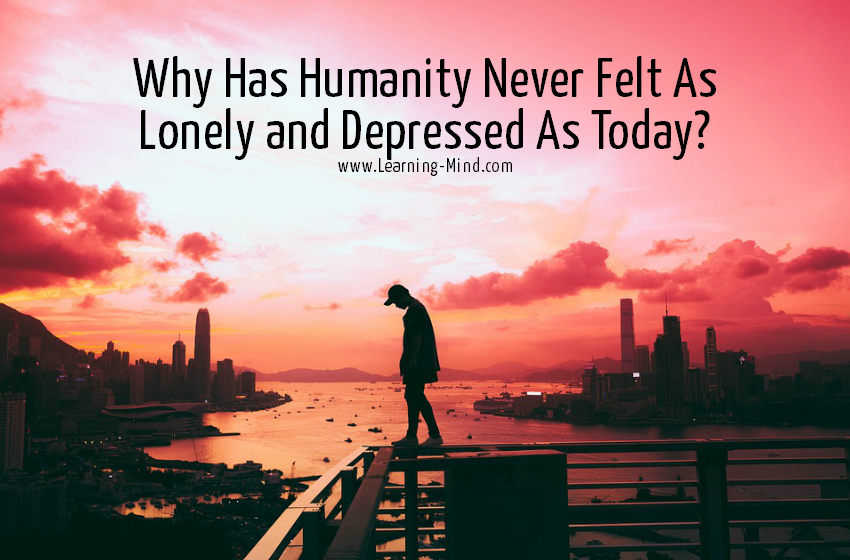 lonely and depressed humanity