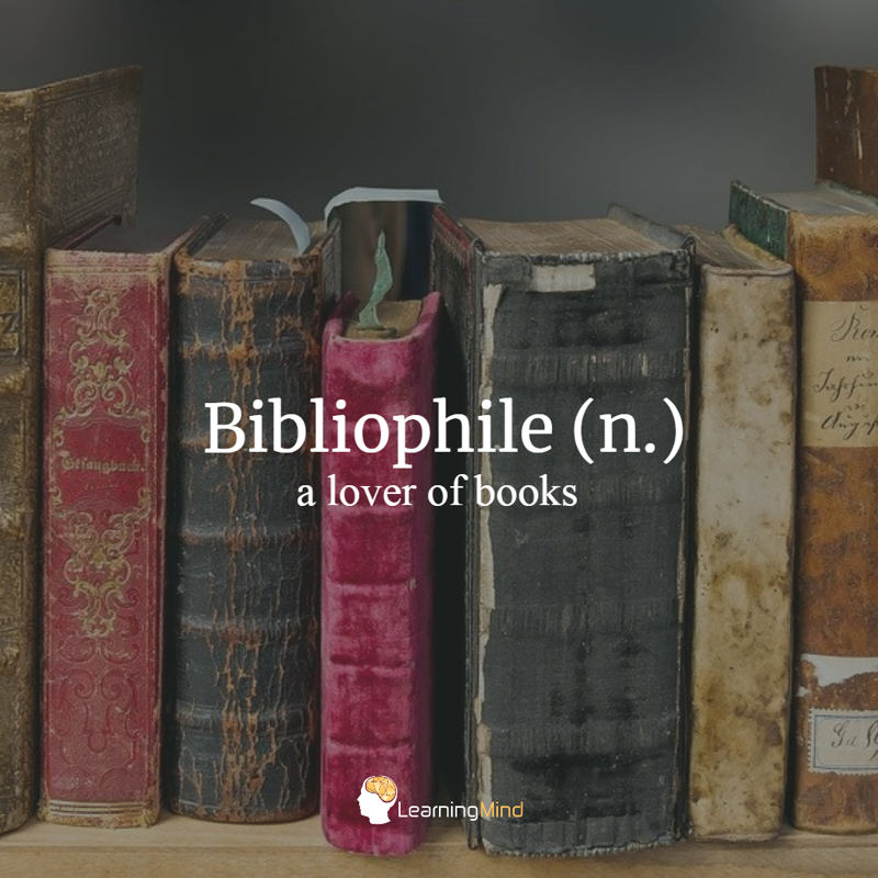 types of philes bibliophile