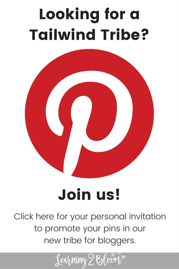 Tailwind tribe, Pinterest, blog, blogger, promote pins, invitation