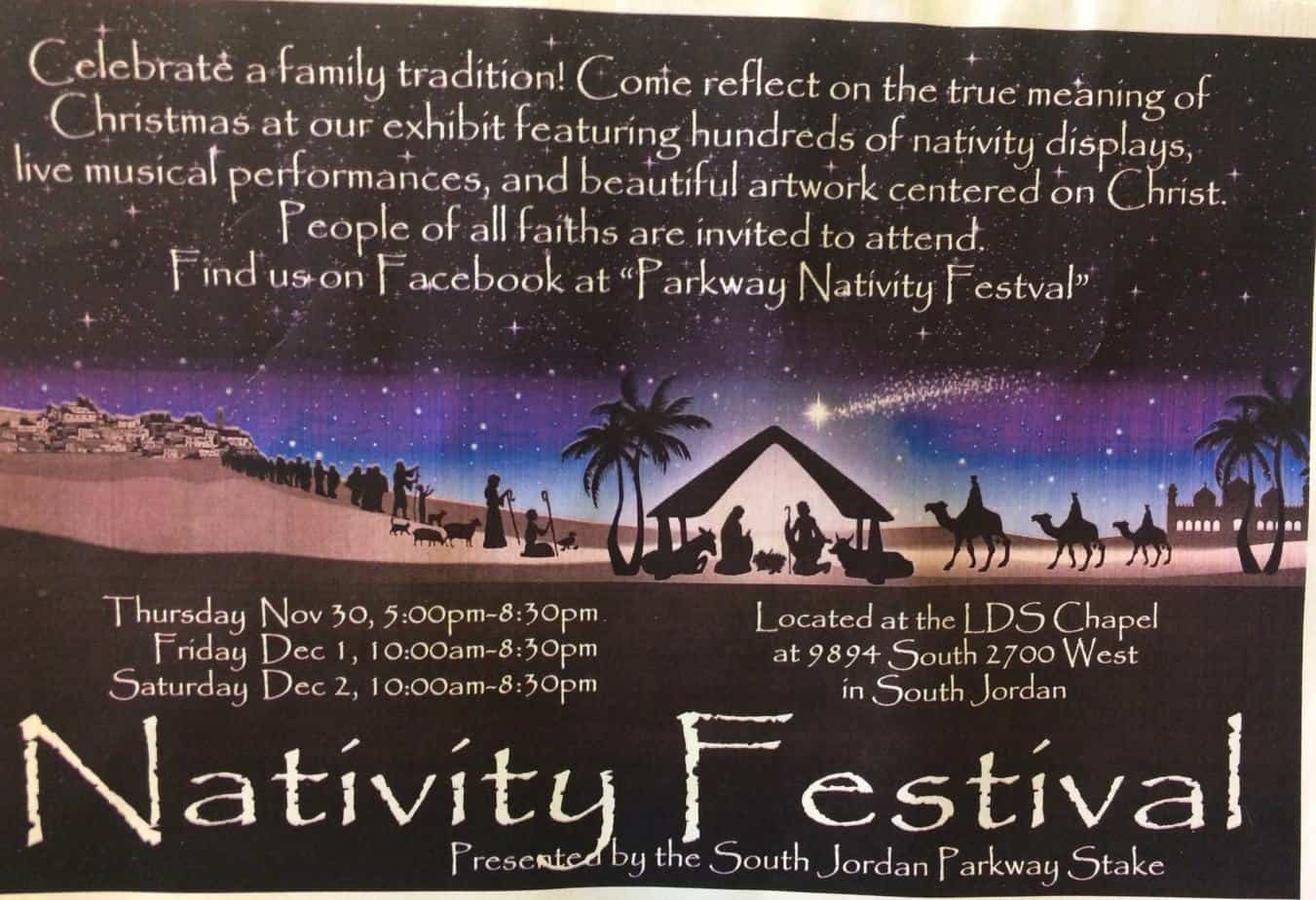 Nativity festival- South Jordan, Utah