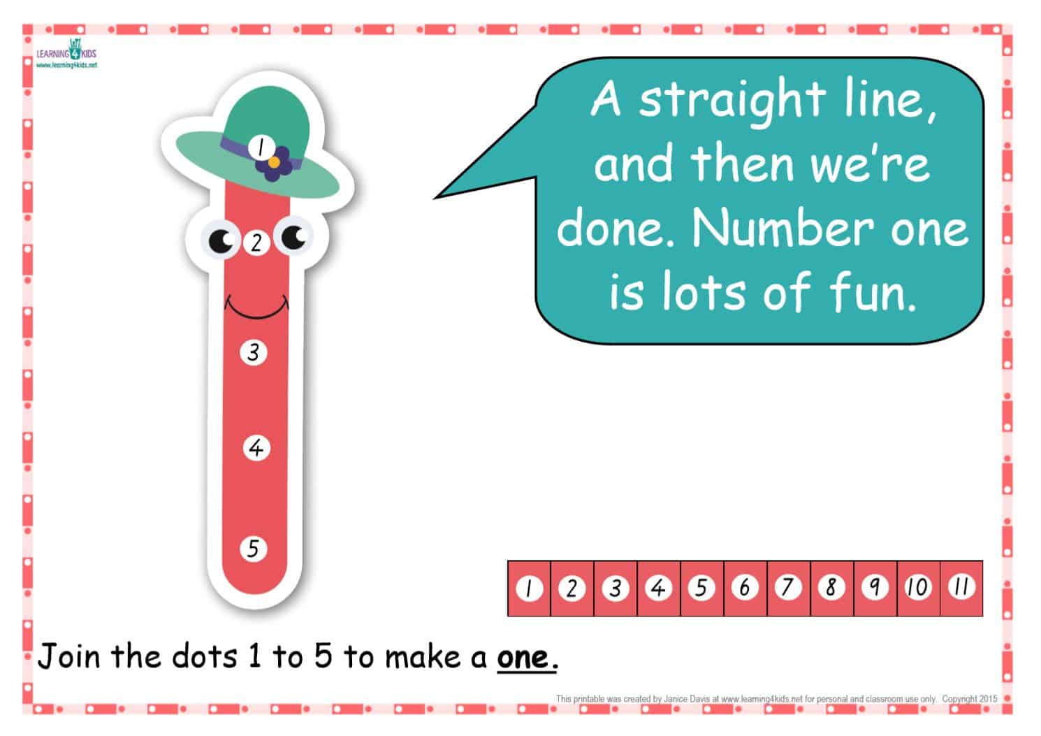 Dot To Dot Number Rhyme Charts Standard Print