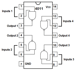 How to Build a NAND Gate Logic Circuit Using a 4011 Chip