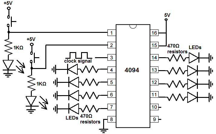 How to Build a Register Circuit with a 4094 Chip