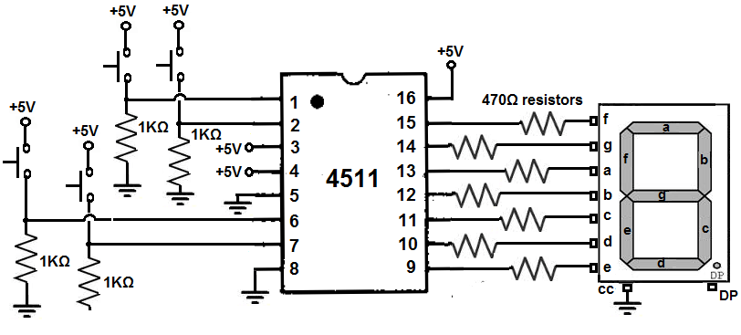 7 segment decoder circuit diagram