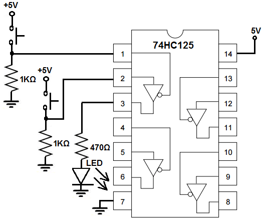How to Build a Tri-state Buffer Circuit with a 74HC125 Chip