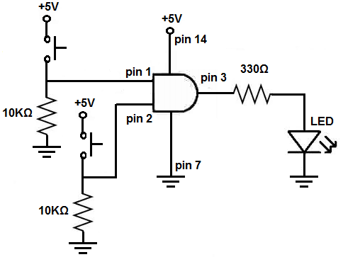 How to Connect a Pull Down Resistor