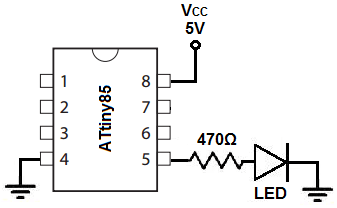 How to Build an LED Blinker Circuit with an ATtiny85