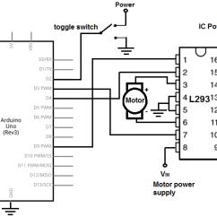L298 H Bridge Circuit Diagram Basic Human Brain 6io Lektionenderliebe De How To Build An With Arduino Microcontroller Rh Learningaboutelectronics Com Forward Reverse Fet