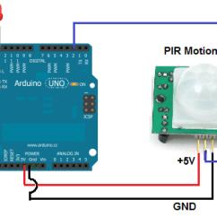 Pir Light Switch Wiring Diagram 2006 Dodge Ram Standard Radio How To Build A Motion Sensor Circuit With An Arduino