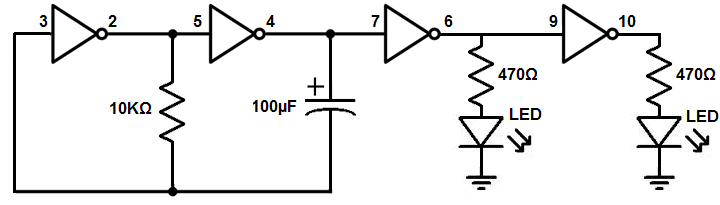 Learning Electronics 1 Astable Multivibrator Rayshobbynet