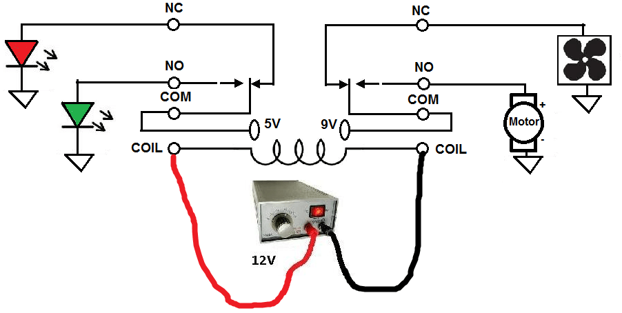 Dpdt latching relay circuit