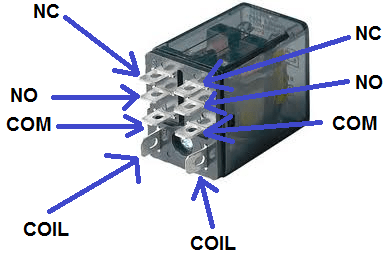 dpdt relay wiring diagram triumph t100 how to connect a in circuit double pole throw real life component