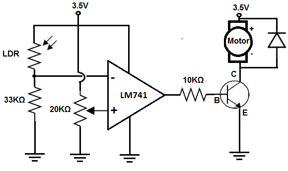 How to Build a Dark-activated Motor Circuit